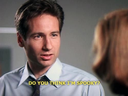 Mulder: Do you think I'm spooky?