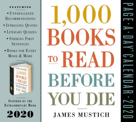 1000 books to read before you die desktop calendar