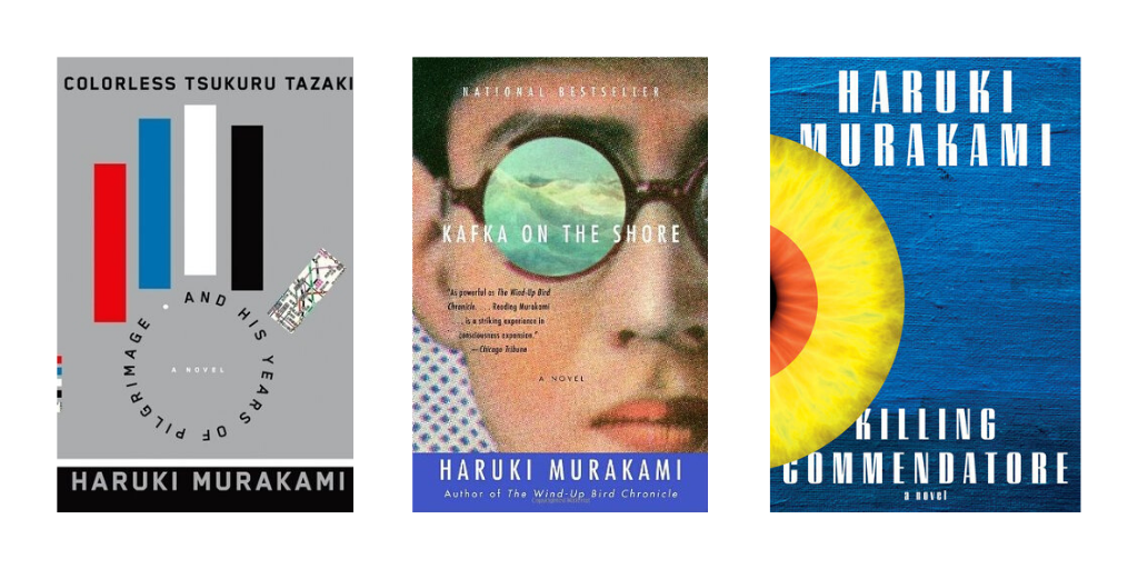 3 Haruki Murakami book covers