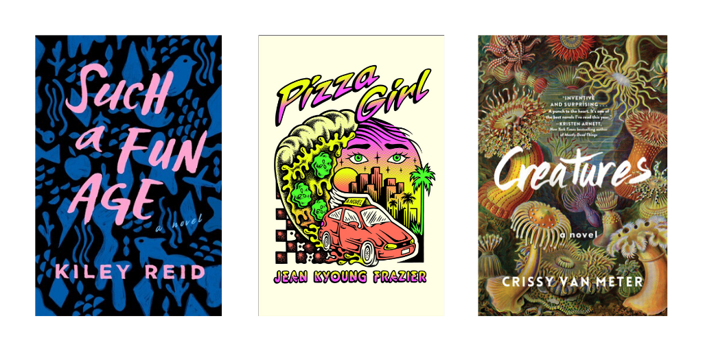 Such a Fun Age, Pizza Girl, and Creatures book covers